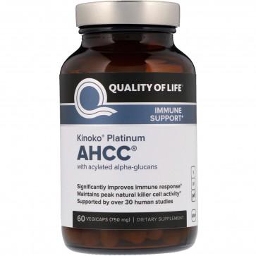 Quality of Life Kinoko Platinum AHCC 60 Vegie Caps