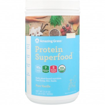 Amazing Grass Protein Superfood Pure Vanilla 1 6 Lb