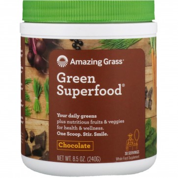 Amazing Grass Green SuperFood All Natural Drink Powder Original 8.5 oz