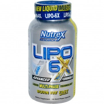 Nutrex Lipo 6x Multi-Phase 240 Capsules