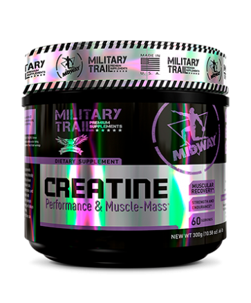 Midway Labs Military Trail Creatine Unflavored 300g 10.58 oz