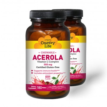 Country Life Chewable Acerola Vitamin C Complex 500mg