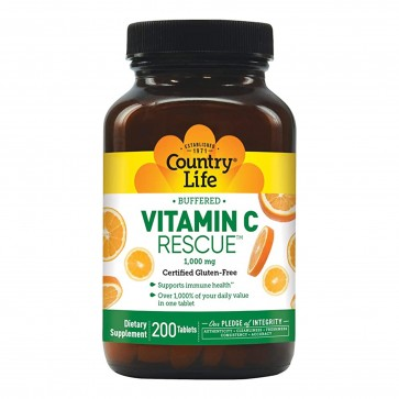 Country Life Vitamin C Rescue 1,000mg 200 Tablets