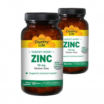 Country Life Zinc Target Mins 50 mg