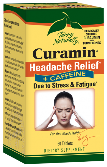 Terry Naturally Curamin Headache Relief and Caffeine | Curamin Headache Relief and Caffeine