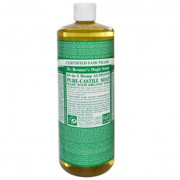Dr. Bronner's Pure Castile Liquid Organic Soap Almond 1 Gallon