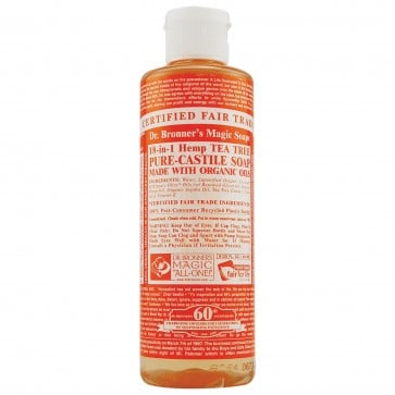 Dr. Bronner's Pure Castile Liquid Organic Soap Tea Tree 8 oz