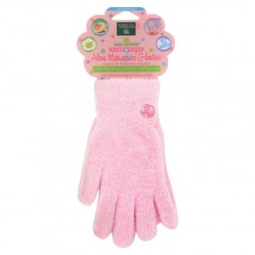 Earth Therapeutics Aloe Moisture Gloves 1 Pair (Pink)
