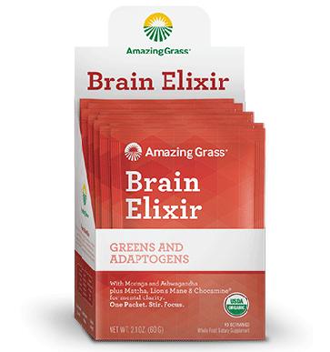 Amazing Grass Brain Elixir | Brain Elixir Packets