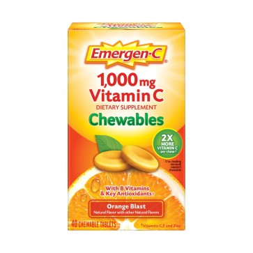 Emergen C 1000mg Vitamin C Orange Blast 40 Chewable Tablets