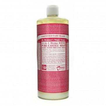 Dr. Bronner's Pure Castile Liquid Organic Soap Hemp Rose 32 oz