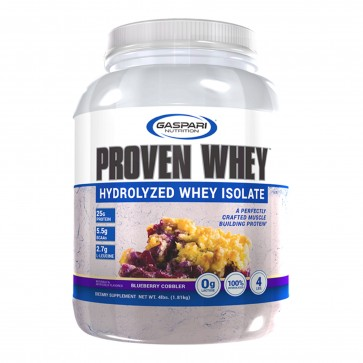 Gaspari Nutrition Proven Whey Hydrolyzed Whey Isolate Blueberry Cobbler 4 lbs