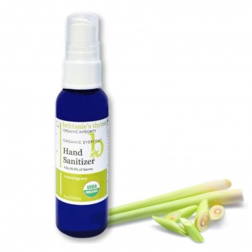 Brittanies Thyme Organic Hand Sanitizer Lemongrass