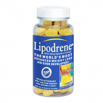 Hi-Tech Lipodrene With Ephedra 100 Tablets