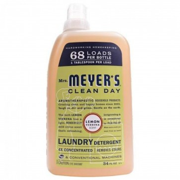 Mrs. Meyer's - Clean Day Laundry Detergent Lemon Verbena - 34 oz