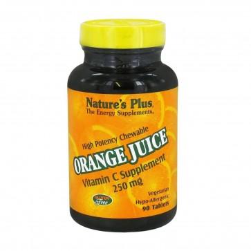Natures Plus Orange Juice Vitamin C 250mg 90 Tablets
