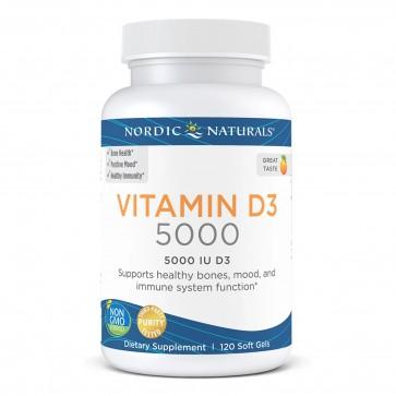 Nordic Naturals Vitamin D3 5000 IU 120 Softgels