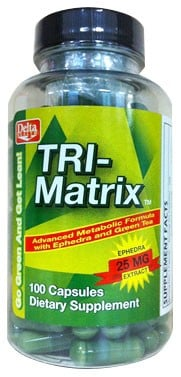 Delta Health Tri-Matrix with ephedra and hoodia 100 Capsules