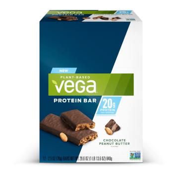 Vega Protein Bar Chocolate Peanut Butter 20g 12 Pack