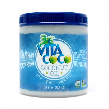 Organic Cold Pressed 100% Raw Extra Virgin Coconut Oil 18 fl oz (532ml) by Vita Coco