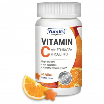 Yum-V's Complete Vitamin C with Echinacea and Rosehips 60ct