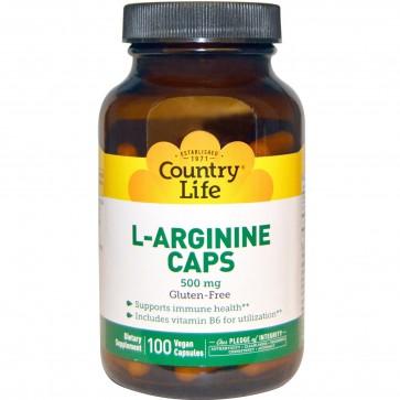 Country Life L-Arginine Caps 100 Vegetarian Capsules