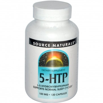 Source Naturals 5-HTP L-5-Hydroxytryptophan 100 mg. 120 Capsules