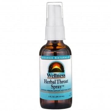Source Naturals, Wellness, Herbal Throat Spray, 2 fl oz (59.14 ml)
