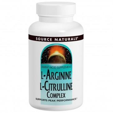 Source Naturals L-Arginine L-Citrulline 240 Tablets