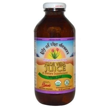 Lily of the Desert, Organic, Aloe Vera Juice, Whole Leaf, Preservative Free, 16 fl oz (473 ml)