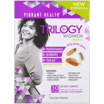 Vibrant Health Trilogy Woman Daily Supplement Power Pack 30 Packets