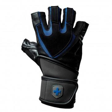 Harbinger Training Grip Wristwrap Gloves Black/Blue