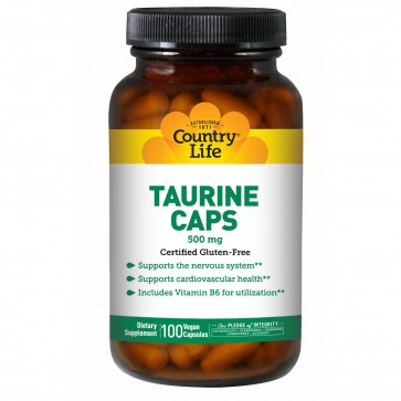 Country Life L-Taurine 500 Mg 100 Vegicaps