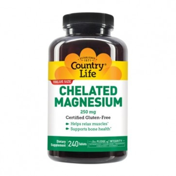 Country Life Chelated Magnesium 250mg 240 Tablets