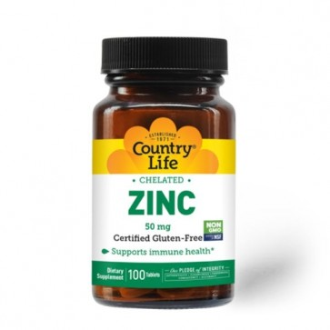 Country Life Chelated Zinc 50 mg 100 Tablets