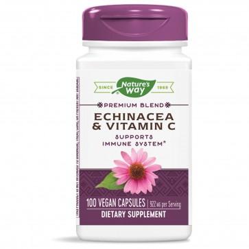 Natures Way Echinacea and Vitamin C 100 Vegan Capsules
