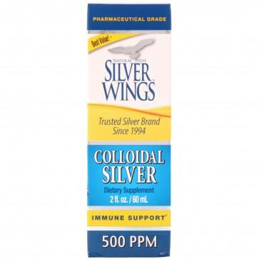 Natural Path Silver Wings Colloidal Silver 500 PPM 2 fl oz (Dropper)