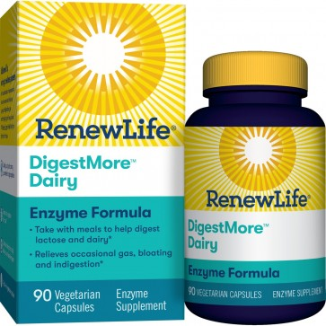 Renew Life DigestMore Dairy 90 Vegetarian Capsules