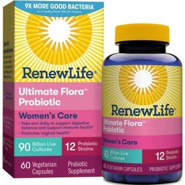 Renew Life Ultimate Flora Probiotic Women's Care 90 Billion 60 Vegetable Capsules