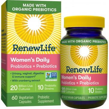 Renew Life Women's Daily Probiotics + Prebiotics 60 Vegetable Capsules