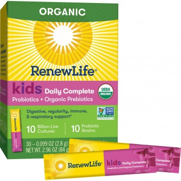 Renew Life Kids Daily Complete Probiotics + Prebiotics Unflavored 30 Packets