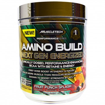 MuscleTech Amino Build Next Gen Energized Fruit Punch 30 Servings