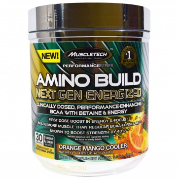 MuscleTech Amino Build Next Gen Energized Orange Mango Cooler 30 Servings