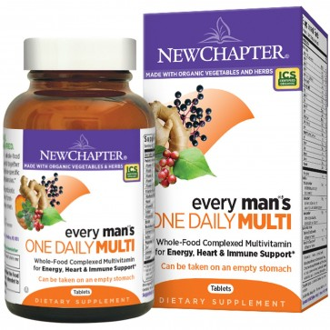 New Chapter Every Man's One Daily Multivitamin 72 Tablets