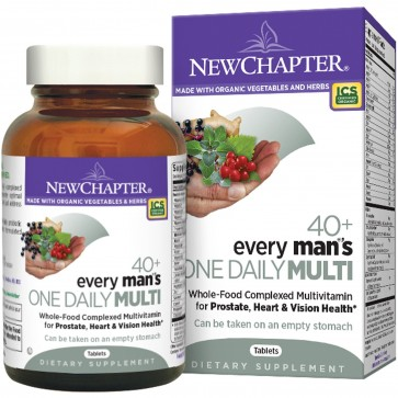 New Chapter Every Man's One Daily 40+ Multivitamin 72 Tablets