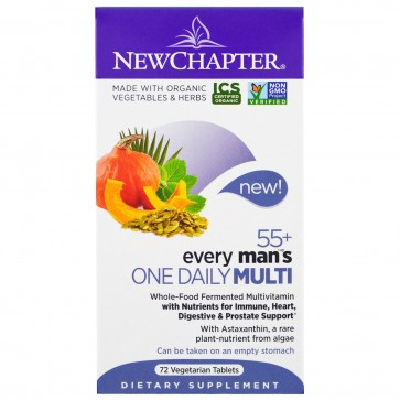 New Chapter Every Man's One Daily 55+ Multivitamin 72 Tablets