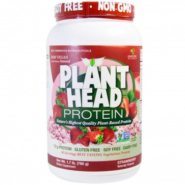 Genceutic Naturals Plant Head Protein Strawberry 1.7 lb.