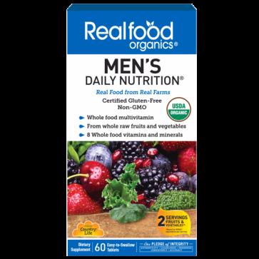 real food organics mens daily vitamin