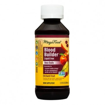 MegaFood Blood Builder Liquid Iron Once Daily Orchard Fruit 8 fl oz