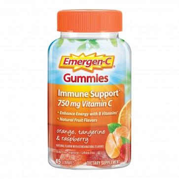 Emergen-C 750mg Vitamin C Orange, Tangerine & Raspberry 45 Gummies